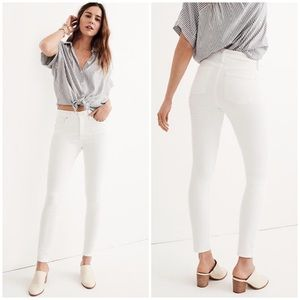 """CURRENT Madewell 9"""" high rise skinny jeans"""
